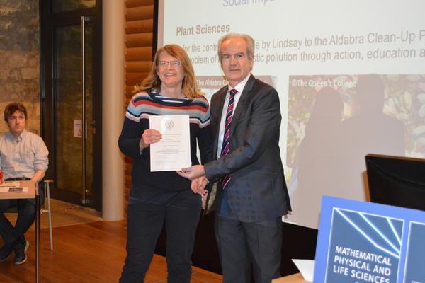 Lindsay Turnbull receiving her Social Impact Award
