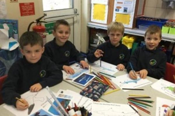 Students from Sibford Gower Endowed Primary School (permission granted)