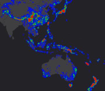 conifer diversity map