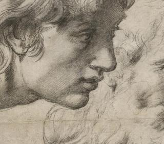 Studies of Two Apostles for the Transfiguration (detail) by Raphael