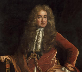 Portrait of Ashmolean founder, Elias Ashmole.