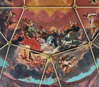 Sheldonian ceiling detail