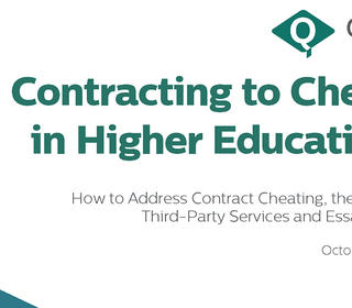 Cover of QAA report: Contracting to Cheat in Higher Education