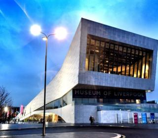 Museum of Liverpool as night falls. Picture Jason Roberts (Liverpool Echo)